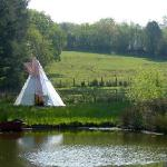  The pond tipi - for sheltering whilst boating or barbecuing