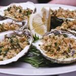 Baked Oysters with Sherry Cream