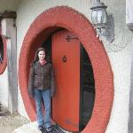 Outside hobbit door!