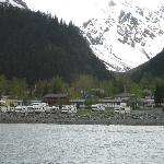 View of campground from boat