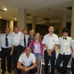 The fantastic tiffany restaurant and pool restaurant staff