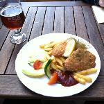 Fish and chips for 110SEK and ESB Ale 52SEK