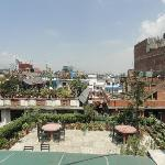 Roof top garden resturant and  out view