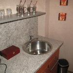 Small kitchenette in room
