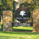 The Vasse Felix sign at the entry of the estate