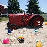 Tractor in the sandbox!