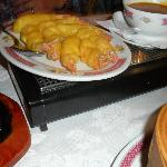 King Prawns in batter with sauce served on the side