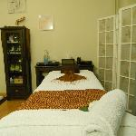 One of the massage beds