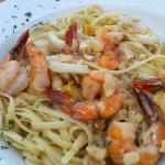 clam , shrimp and calamari linguine