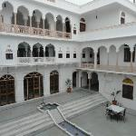  The main courtyard- dining area on the ground floor, bar on the first floor