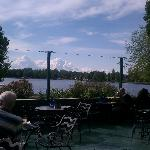  From the patio bar looking out at the lake