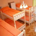 Orange-8 bed dorm room