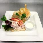 Lobster roll made with fresh Lunenburg Lobster from our tank.