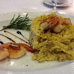 Risotto w/prawns TO DIE FOR!