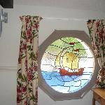 Stained glass window in room 24