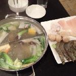 hotpot with sea food combo