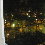  View of a square with cafes from our room