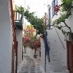 Just another beautiful alley in Mykonos.