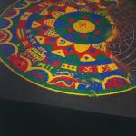 Tibet sand art in Gallo lobby.