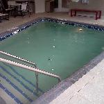  Here&#39;s what there is of the pool...that bench is about 4 ft long.
