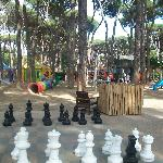  Huge chess set and play park.
