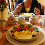 Breakfast with fresh fruits