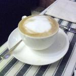  A perfect cappuccino, prepared for me in the breakfast room at Santarosa Relais.