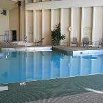 Lovely heated pool and our guess was the hot tub was a HOT 105 degrees. Nice.