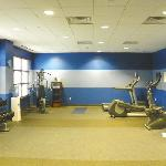 massive gym space, some equipment