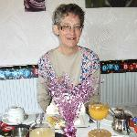  Janet with birthday table decoration