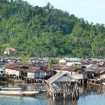 Wakai - the main village in the Togean Islands. Be sure to stock up in Gorontalo!