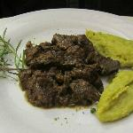 One of Mirella's Menu items- wild boar ragout