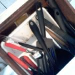 dirty utensil drawer