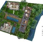 The floor plan of WAHYU BOUTIQUE VILLAS.