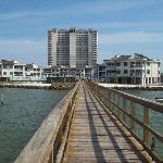 looking from the pier to the condo