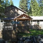 Odell Lake Lodge...there are rooms to stay in at the lodge...and cabins as welll