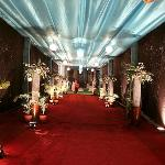 Beautiful passage to the function hall.