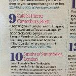  No9 in top30 best plaaces for brunch in the UK!