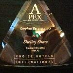  2011 Service Excellence Award