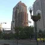 Buildings and street decor in downtown Columbus