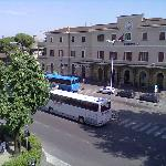  The Empoli train and buses station, view from room 12