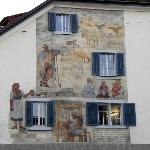 Paintings on building in Zurich