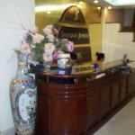  The registration desk in the lobby