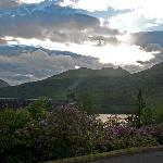 View of Loch Long from the decking