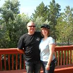  Bride of 18 years and me on deck of Castle Creek B&amp;B