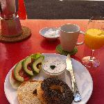That famous Bagel breakfast. Yumm!