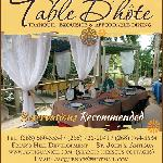  Welcome to Table D&#39;hote!
