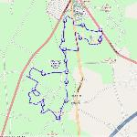  This is the route of the Yanks Tour, as mapped by my GPS logger on the actual route, June 2012.