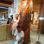 Me and the carver of this sculpture