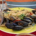 Excellent pasta with sea food